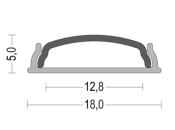 K65 18x5mm Bendable LED Aluminum Profile