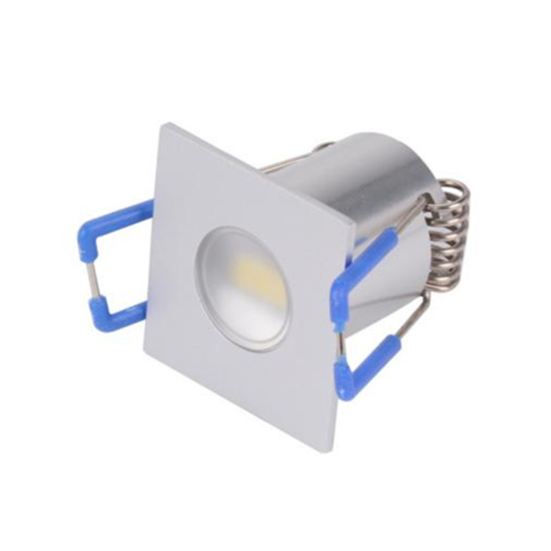 2W DC12V Mini Spot Light Square LED Cabinet Light