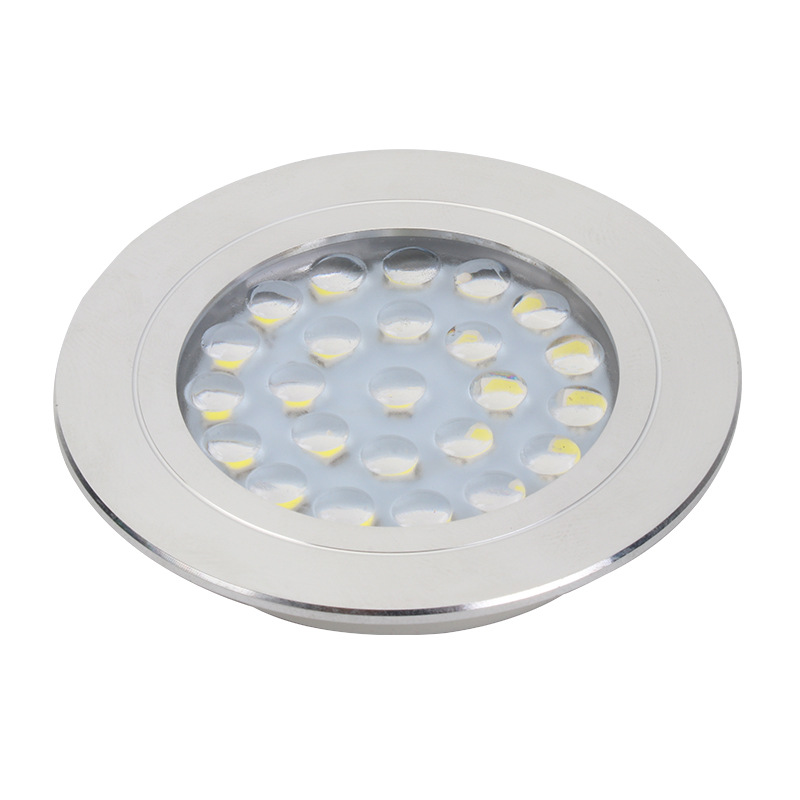 1.5W LED Wardrobe Light Round Recessed LED Cabinet Light - 副本
