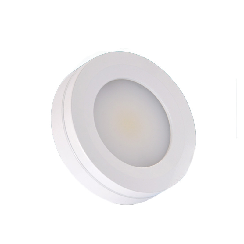 3W COB AC220V LED Puck Lights Triac Dimmable LED Cabinet Lights Surface Mounted White Color